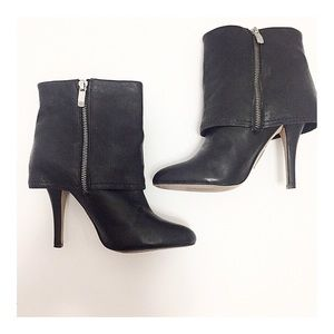 Vince Camuto Leather Stiletto Fold Over Boots